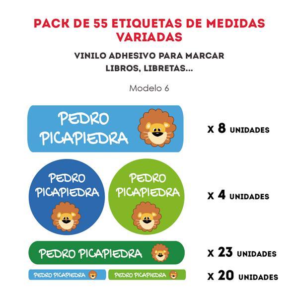 PACK ETIQUETAS VINILO REF.:6