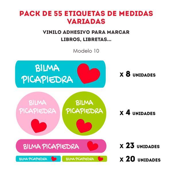 PACK ETIQUETAS VINILO REF.:10
