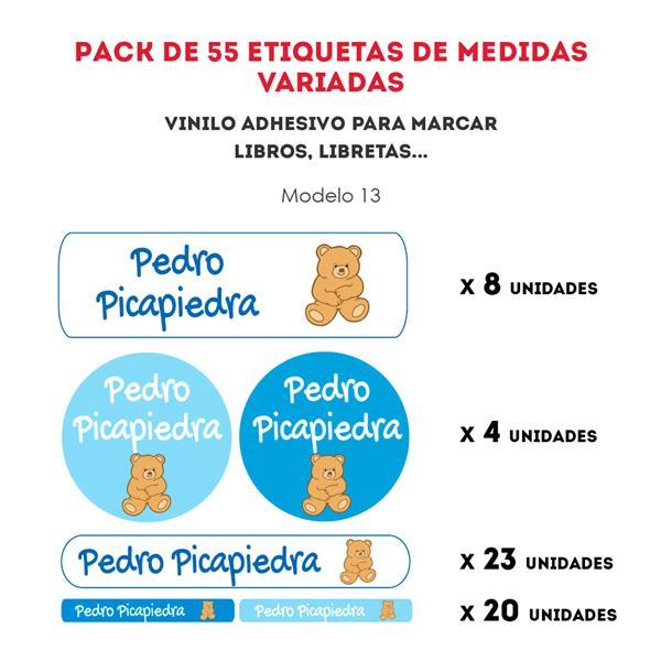 PACK ETIQUETAS VINILO REF.:13
