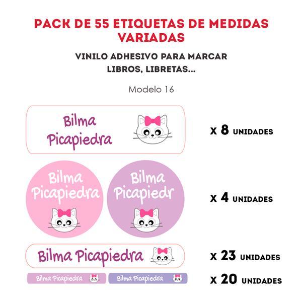 PACK ETIQUETAS VINILO REF.:16