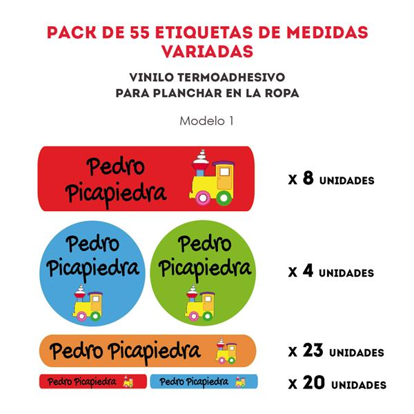 PACK ETIQ. TERMOADHESIVAS REF.:1
