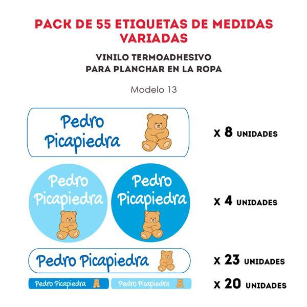 PACK ETIQ. TERMOADHESIVAS REF.:13