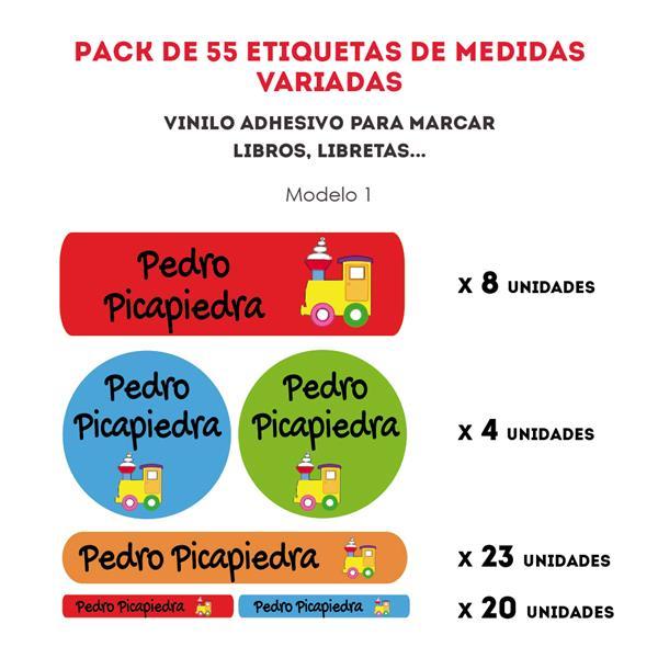 PACK ETIQUETAS VINILO REF.:1