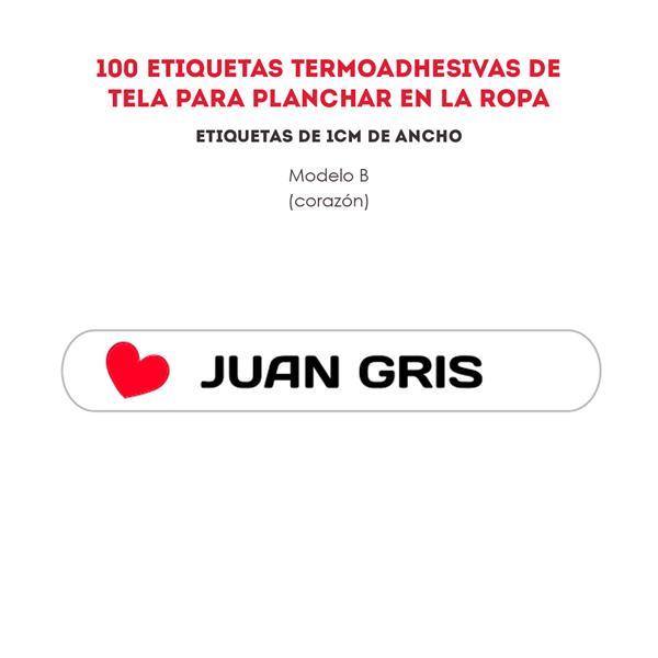 ETIQUETAS TERMOADHESIVAS REF.:B